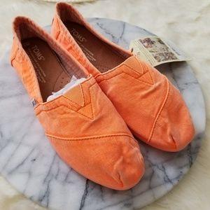 Toms fluorsent orange palmetto 6